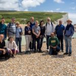 Photo of Hubert Schmitz with colleagues and family on Severn Sisters walk 2016